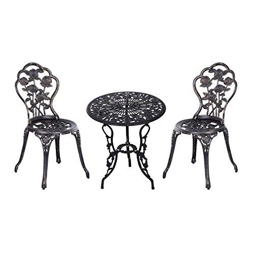 Outsunny Gartenmöbel 3 TLG. Gartenset Sitzgruppe Balkonset Balkonmöbel Garnitur Tisch Stuhl