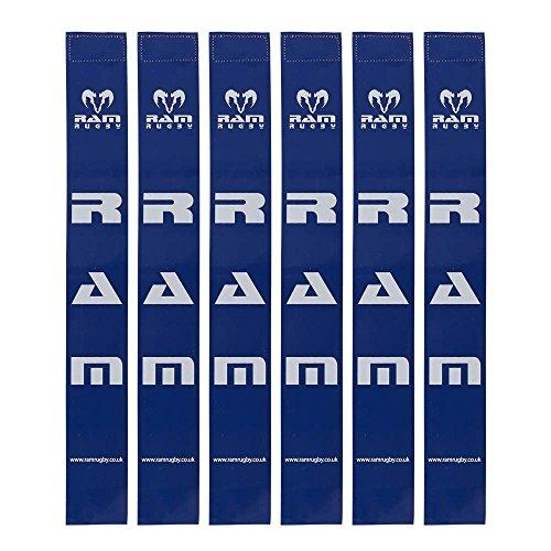 RAM Rugby Tags nur–Sets von 20Tag Gürtel–6Farben Blau blau