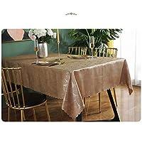 テーブルクロス スクエア/長方形防水テーブルクロスポリエステル食事コーヒーテーブルリビングルームホーム現代のシンプルな防水テーブルクロスカバー4COLOR (Color : Brown, Size : 135*180cm)