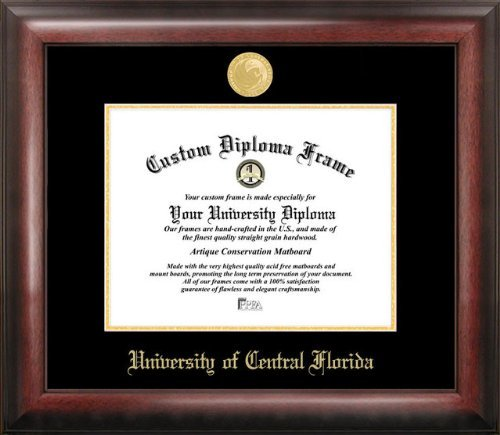 Campus Images University of Central Florida 11w x 8.5h Gold Embossed Diploma Frame