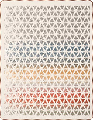 Biederlack Decke Sofaüberwurf Baumwolle Terracotta 150x200 cm