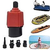 ZQEDY Accesorios del Conjunto adaptadores la ña Bomba Nylon Paleta Surf Boquilla Inflable Duradera Canoa Bote Goma Kayak Multifuncional Asalto Barco Aire