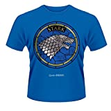 Playlogic International(World) Game of Thrones House Stark Camiseta Manga Corta, Azul, S para Hombre