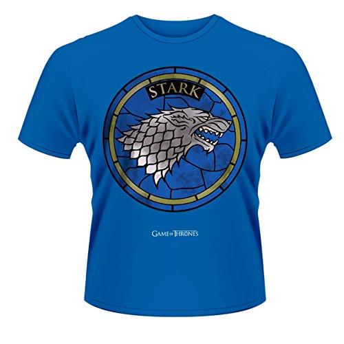 Playlogic International(World) Game of Thrones House Stark Camiseta Manga Corta, Azul, S para Hombre