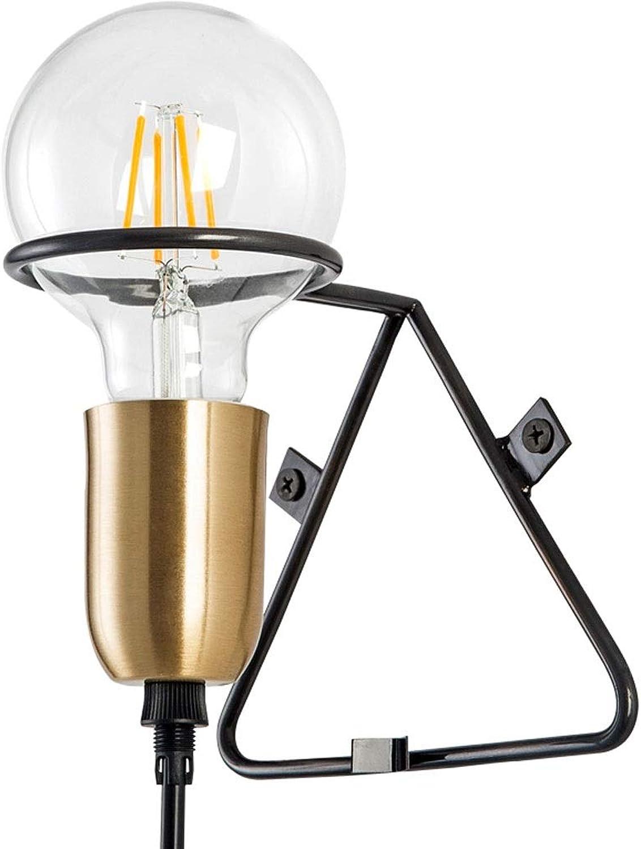 YangMi Wandlampe- Wandleuchte Schlafzimmer Nachttischlinie Cafe Art Glass Lamp (Farbe   Gold, gre   11.5X14.5cm)