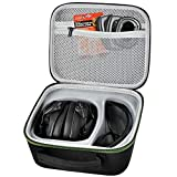 Ear Protection Case Compatible with Walker's Game Ear Razor Slim Electronic Muff/Howard Leight Impact Sport Sound Amplification Shooting Earmuff and Shooter Safety Eyewear Glasses