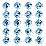 VKLSVAN 20個 ターミナル PCBスクリューターミナルブロックコネクター 青 5.08mmピッチ 2ピン 2Pin