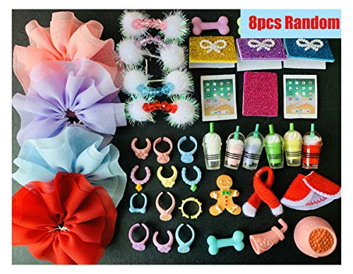 lps Accessories(Cat not Included), Skirt Collar Bow and Food for 1 Set for Lps Collie Short Hair Cat Dachshund and Cocker Spaniel Best Gift for Kids Who Love lps