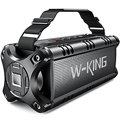 Bluetooth Speakers, W-KING 50W Portable Bluetooth Speaker Loud, IPX6 Waterproof Outdoor Speaker with 8000mAh Power Bank, Wireless Bass Speaker Bluetooth 5.0 with 24H Playtime/TF Card/AUX/NFC from Shenzhen Weiking Technology Coltd