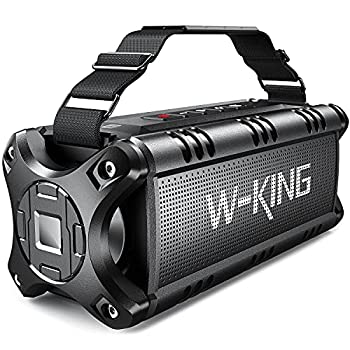 Bluetooth Speaker Loud 50W Punchy Bass W-KING IPX6 Waterproof Portable Bluetooth Speaker with 8000mAh Power Bank Bluetooth 5.0 Outdoor Speaker Support TF Card/NFC/24H Playtime/AUX