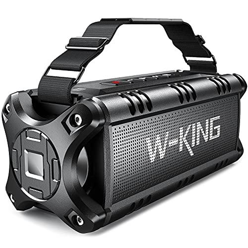 Cassa Bluetooth, W-KING 50W(Picco 70W) Altoparlante Bluetooth Portatili, 24 Ore di Riproduzione Speaker, 8000mAh Batteria, Potente IPX6 Impermeabile con Bassi, NFC, TWS, Carta di TF