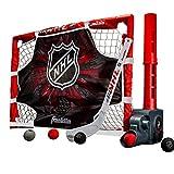 Franklin Sports Juego de portería de hockey en la rodilla – Mini palo de hockey – Pasador automático de pelota, portería y objetivo – Juego de hockey para niños – Licencia de la NHL