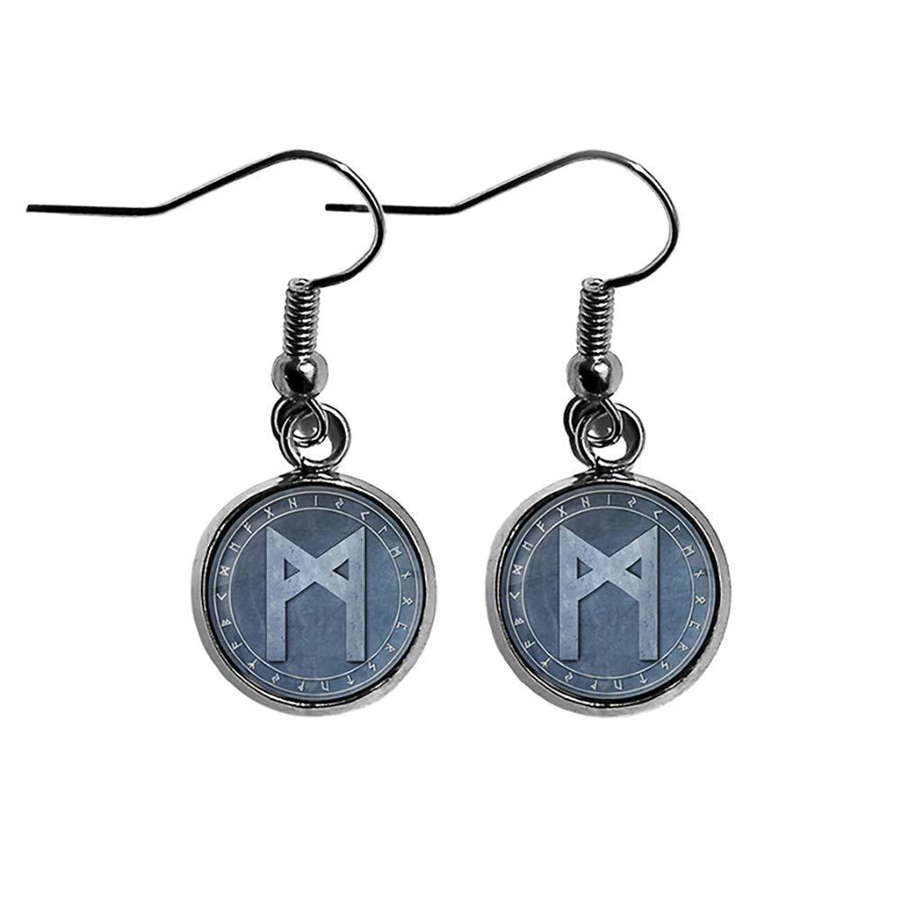 Viking Elegant Runes Elder Futhark Max 60% OFF Rune Circle Surgical Mannaz M Man Ste