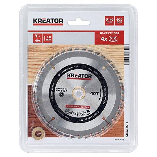 KREATOR KRT020405 - Disco de sierra madera 140mm40d