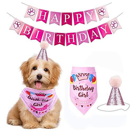Juego de juguetes para tarta de cumpleaos con globo de banadana, decoracin de fiesta, tut de gato, vestido de sesin de fotos, disfraz de princesa para mascotas (rosa A)