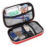 KIMISS Kit de Ayuda de Emergencia portátil Kit de Emergencia para automóvil, hogar, Viajes, Camping, Oficina o Deportes, Caja de Herramientas de Tratamiento de Supervivencia de Emergencia