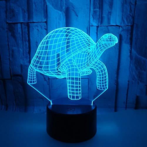 Night Light Turtle Looking Up 3d Night Light 7 Gradient de couleur tactile télécommande Led Visual Light