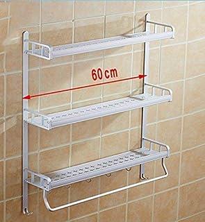 Étagère De Douche Supports De Salle De Bain Espace Étanche Durable Toilettes De Salle De Bain en Aluminium Bassin Mural Ca...