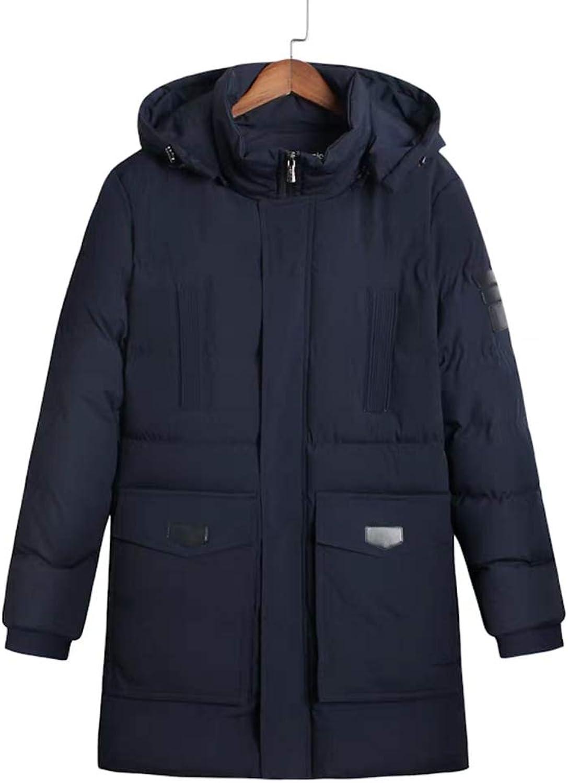 Cotton Coat Winter Adult Large Thick Coat Medium Long Loose Down Jacket (color   TZ02, Size   L)
