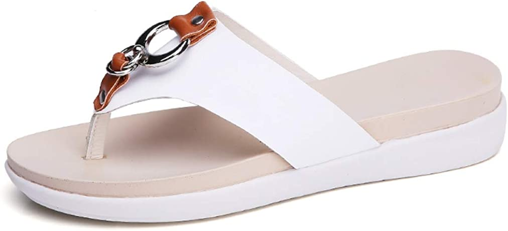 Women Platform Slippers Genuine Leather Flip Flops Fashion Outside Shoes Wedge Slippers