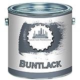 Lausitzer Farbwerke Buntlack traditionellerrobuster Kunstharzlack bunteLack-Farbeeinfache Bearbeitung, hohe Qualität,schnelltrocknend, Universal-Lack (1 L, Graualuminium (RAL 9007))