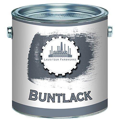 Lausitzer Farbwerke Buntlack traditionellerrobuster Kunstharzlack bunteLack-Farbeeinfache Bearbeitung, hohe Qualität,schnelltrocknend, Universal-Lack (1 L, Feuerrot (RAL 3000))