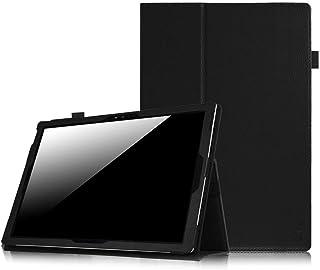 جراب Fintie Surface Pro 7 / Pro 6 - جراب فوليو من الجلد النباتي الممتاز النحيف مع حامل قلم شاشة ، متوافق مع Microsoft Surf...