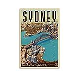 Vintage-Reise-Poster Sydney, Leinwand-Kunst-Poster und