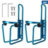 SUI-lim Soporte para botellas de bicicleta, aluminio, soporte para botellas de carreras, soporte para botellas, para bicicletas, mountain bikes cochecito silla de ruedas (azul)
