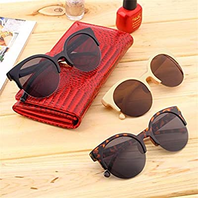 Jessicadaphne Classic Round Shape Circle Frame Sunglasses Eyewear Outdoor Men Women Semi-Rimless Sunglasses,Fashionable Design Unisex Outdoor Eyewear