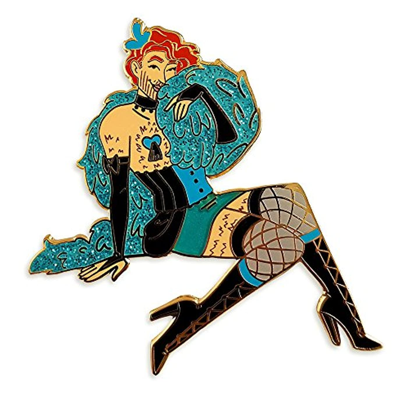 Pinsanity Burlesque Pin Up Boy Enamel Lapel Pin