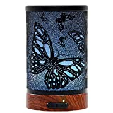 Difusor de Aceites Esenciales, Difusor de Aromas, Ultrasónico Aromaterapia Humidificador, Apaga Cuando sin Agua LED cambiado de 7 colores, 100ml (Mariposa)