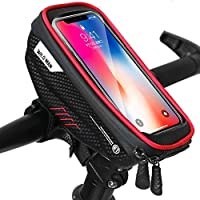 Bolsa Bicicleta Cuadro, Bolsas de Bicicleta, Bolsa Impermeable para Bicicleta, Bolsa Táctil de Tubo Superior Delantero...