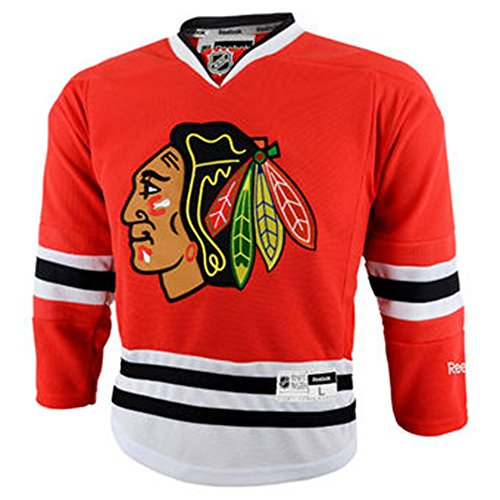 NHL Chicago Blackhawks Boys Official Licensed Red Blank Jersey, Kids (4-7) One Size Fits Most