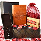 Anniversary Gifts For Her- INCLUDES: Sterling Silver Necklace, Leather...