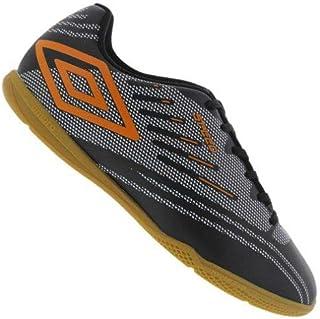68762cf0bd Chuteira Futsal Umbro Speed IV JR. - Preto Prata Laranja