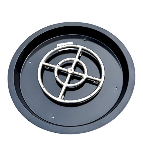 Stanbroil Porcelain Steel Round Drop-in Fire Pit Burner Ring Pan, 19-Inch
