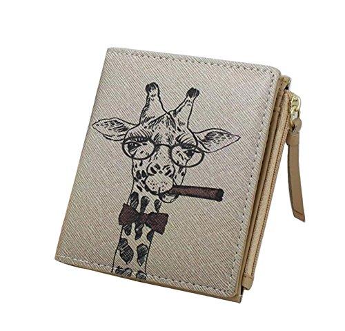 Diyafas Karikatur Giraffe Kleine Portemonnaie Münzen Geldbörse Geldbeutel Portmonee Frauen Kreditkarte Kasten Halter