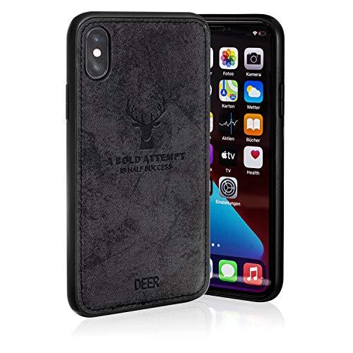 ALTHAUS Handyhülle für iPhone X, iPhone XS, iPhone 10 inkl. 2X Panzerglas-Folie 9H - Kratz- & rutschfeste Handy-Schutzhülle aus Silikon. Handy Zubehör Hülle inkl. Schutzfolie