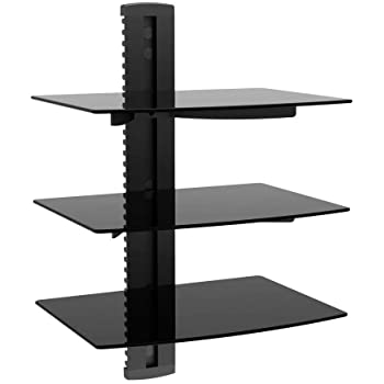 Monoprice 110479 UL Certified 2 Shelf Wall Mount Bracket for TV Components