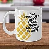 N\A Piña Use Corona Be Be Sweet Coffee Mug Taza de té de cerámica única