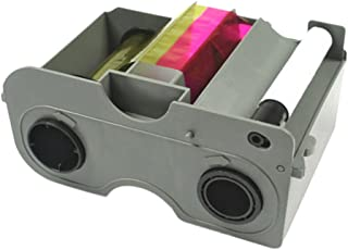 HID 45100 - YMCKO - HID Fargo DTC4250e& DTC4000 YMCKO Full Color Ribbon Cartridge with Resin Black and Clear Overlay Panel - 250 Images