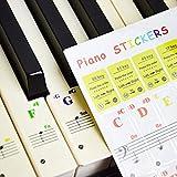YOUYIKE Pegatina de Piano para Teclas, para 37/49/61/88 Teclas,Facilita Aprendizaje de Piano, Transp...