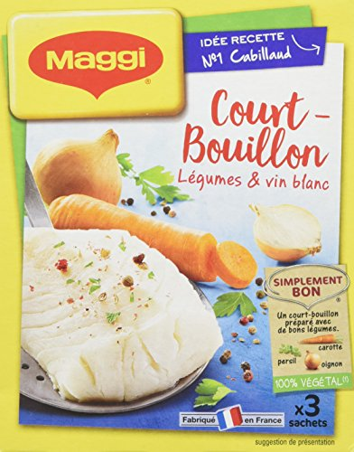 Maggi Assaisonnement Volaille pour Court-Bouillon Légumes/Vin Blanc 150 g