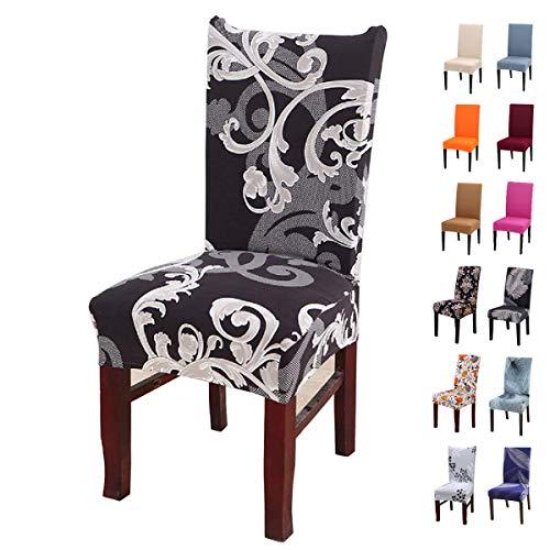 Crralos Fundas para sillas Lavable Extraíble, Elasticas Funda Sillas Comedor Fundas Protectoras para sillas para Duradera Modern Hotel, Boda, Decor Restaurante Sala de Estar Cocina