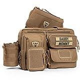 Tactical Baby Gear Deuce 2.0 Tactical Diaper Bag Combo Set und Wickelauflage (Coyote Braun)