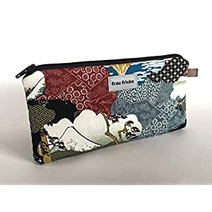 """Federmäppchen Federtasche""""Umi"""" aus japanischen Designerstoff Stiftetasche Etui Handmade"""