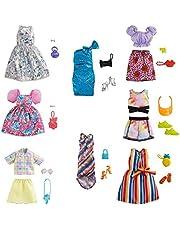 Barbie-modepaket - GRB98 - Ananasmodepaket och tillbehör - Innehåller sommarklänning + skor + väska - nytt