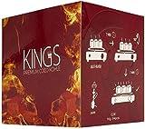 Kings - Carbone per narghilè, 2 kg, 26 pezzi, carbone naturale di cocco di alta qualità,...