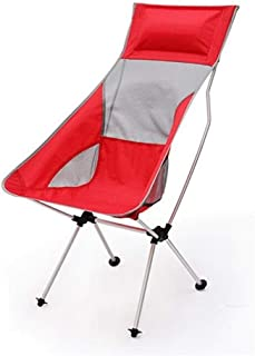KJRJZDY Silla para Acampar Que se dobla en el Bolsillo Trasero de Malla de Quad portátil soporta 300 LB (Color : Red)